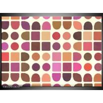 Foto canvas schilderij Modern | Bruin, Paars, Roze