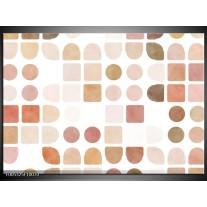 Foto canvas schilderij Modern   Wit, Bruin, Roze