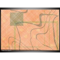 Foto canvas schilderij Modern | Geel, Bruin