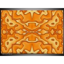 Foto canvas schilderij Modern | Oranje, Geel, Wit