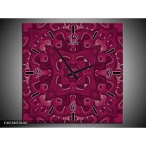 Wandklok op Canvas Modern | Kleur: Paars | F005344C