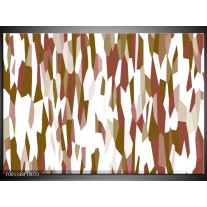 Foto canvas schilderij Modern | Wit, Bruin