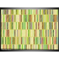 Foto canvas schilderij Modern   Groen, Blauw, Geel