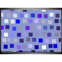 Foto canvas schilderij Modern | Blauw, Wit, Grijs