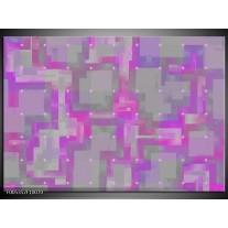 Foto canvas schilderij Modern | Grijs, Paars, Roze