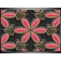 Foto canvas schilderij Modern | Grijs, Roze, Zwart