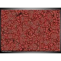 Foto canvas schilderij Modern | Rood, Zwart