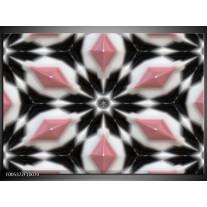 Foto canvas schilderij Modern   Roze, Zwart, Wit