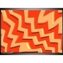 Foto canvas schilderij Modern | Oranje, Geel