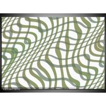 Foto canvas schilderij Modern | Wit, Groen