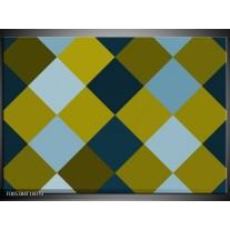 Foto canvas schilderij Modern | Blauw, Groen, Geel
