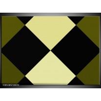 Foto canvas schilderij Modern | Zwart, Wit, Groen