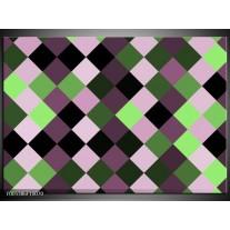 Foto canvas schilderij Modern | Groen, Paars, Zwart