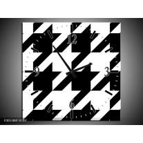 Wandklok op Canvas Modern | Kleur: Wit, Zwart | F005388C