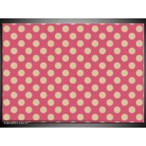 Foto canvas schilderij Modern | Roze, Wit