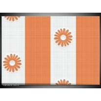 Foto canvas schilderij Modern   Oranje, Wit