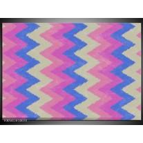 Foto canvas schilderij Modern | Blauw, Paars, Roze