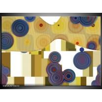Foto canvas schilderij Modern | Blauw, Geel, Wit