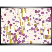 Foto canvas schilderij Modern | Paars, Wit, Blauw