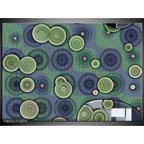 Foto canvas schilderij Modern | Groen, Grijs