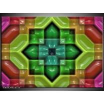 Foto canvas schilderij Modern | Groen, Rood, Geel
