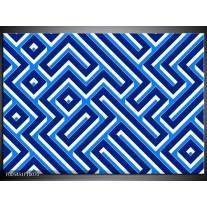 Foto canvas schilderij Abstract   Blauw, Wit