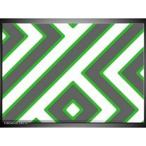 Foto canvas schilderij Abstract | Grijs, Groen