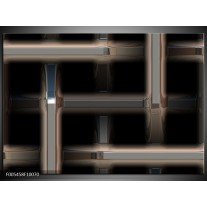 Foto canvas schilderij Abstract | Zwart, Grijs