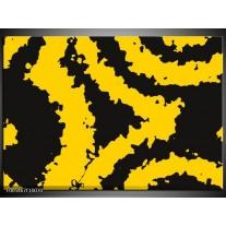 Foto canvas schilderij Abstract | Zwart, Geel