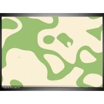 Foto canvas schilderij Abstract | Groen, Wit