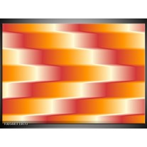 Foto canvas schilderij Abstract   Oranje, Geel, Rood