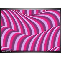 Foto canvas schilderij Abstract | Paars, Roze