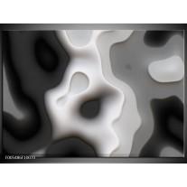 Foto canvas schilderij Abstract | Zwart, Grijs, Wit