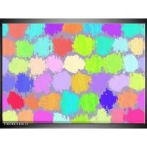 Foto canvas schilderij Abstract | Groen, Paars, Blauw