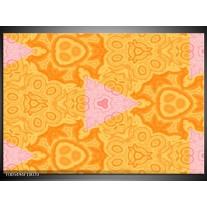 Foto canvas schilderij Abstract   Geel, Oranje