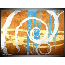 Foto canvas schilderij Art | Blauw, Oranje, Bruin