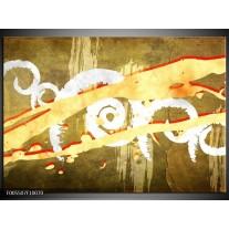 Foto canvas schilderij Art | Geel, Rood, Bruin