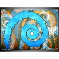 Foto canvas schilderij Art | Blauw, Geel, Wit