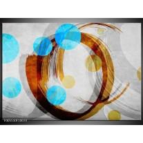 Foto canvas schilderij Art | Blauw, Bruin, Grijs