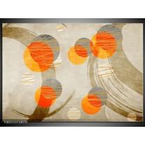 Foto canvas schilderij Art | Oranje, Grijs, Geel