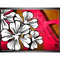 Foto canvas schilderij Art   Wit, Roze, Bruin