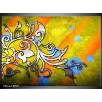 Foto canvas schilderij Art | Geel, Groen, Blauw