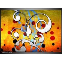 Foto canvas schilderij Art   Oranje, Wit, Rood