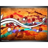Foto canvas schilderij Art | Rood, Wit, Oranje