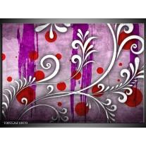 Foto canvas schilderij Art | Paars, Grijs, Rood