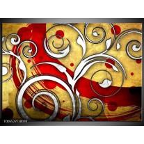 Foto canvas schilderij Art | Rood, Wit, Geel