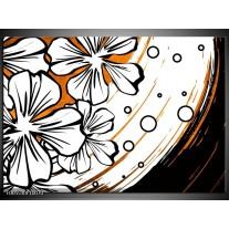 Foto canvas schilderij Art | Wit, Oranje, Zwart