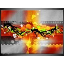 Foto canvas schilderij Art | Oranje, Zwart, Geel