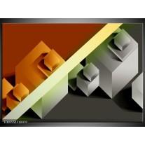 Foto canvas schilderij Vierkant | Bruin, Grijs, Geel