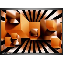Foto canvas schilderij Art   Oranje, Zwart, Wit